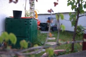 Komposter auf der Dachterrasse in Wien